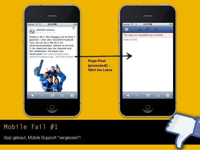 """Mobile Fail #1App gebaut, Mobile Support """"vergessen""""!Share einesFreundes -führt ins Leere"""