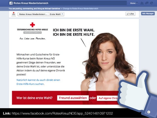 """Action """"Chat""""Feed-Story mit individuellem Thumbnail, User-Message.User Message"""