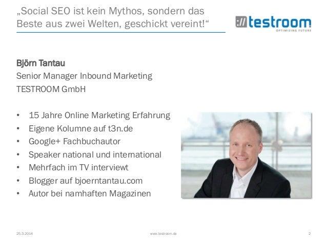 Social SEO mit der Facebook Backdoor @ AllFacebook Marketing Conference Slide 2