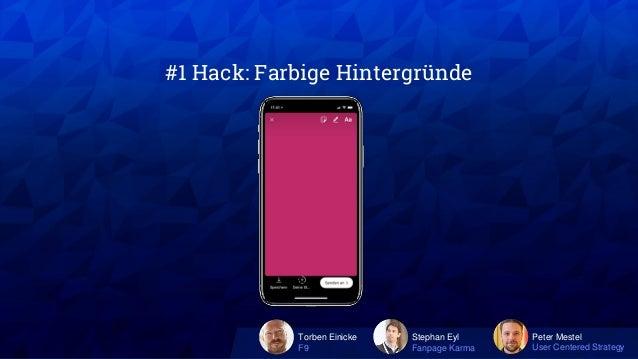 Instagram Hacks: 3 Experten mit 30 Tipps für Instagram Posts, Stories, Ads, ... #AFBMC Slide 3