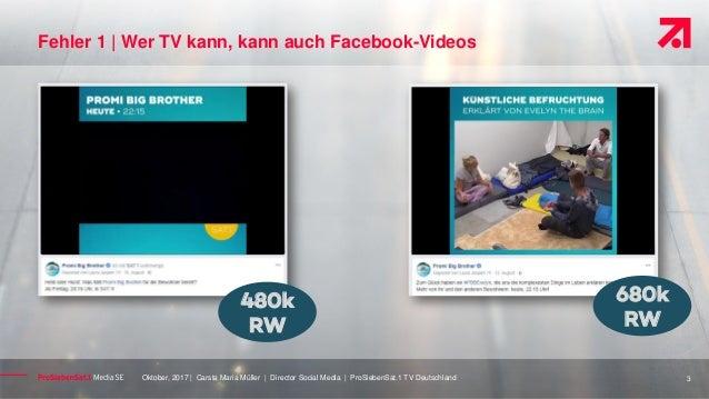 ProSiebenSat1 Video Fehler auf Facebook #AFBMC Slide 3