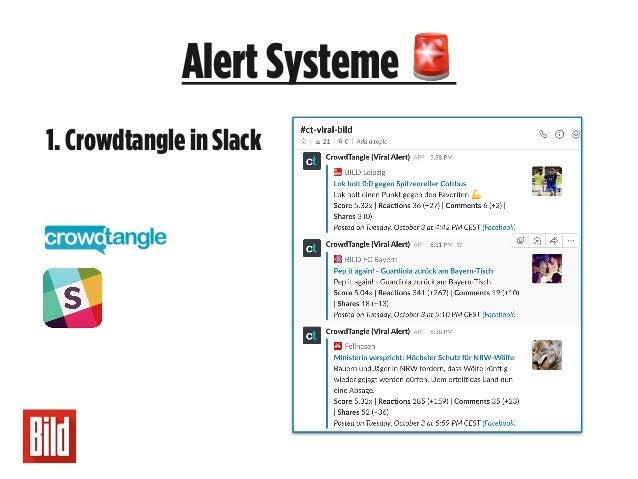 Unsere wichtigsten5LehrenAlertSysteme 🚨 1. Crowdtangle in Slack