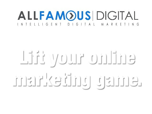 Lift your online  marketing game.