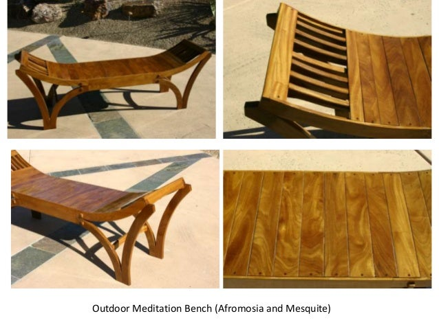 Outdoor Meditation Bench (Afromosia and Mesquite)