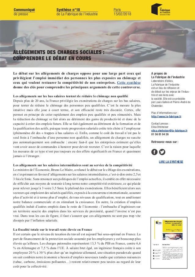 Les allégements sur les bas salaires tentent de réduire le chômage non qualifié Depuis plus de 20 ans, la France privilégi...