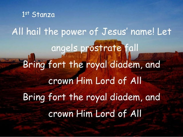 all hail the power of jesus name pdf