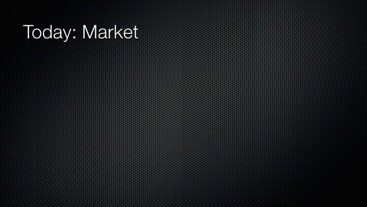 Today: Market
