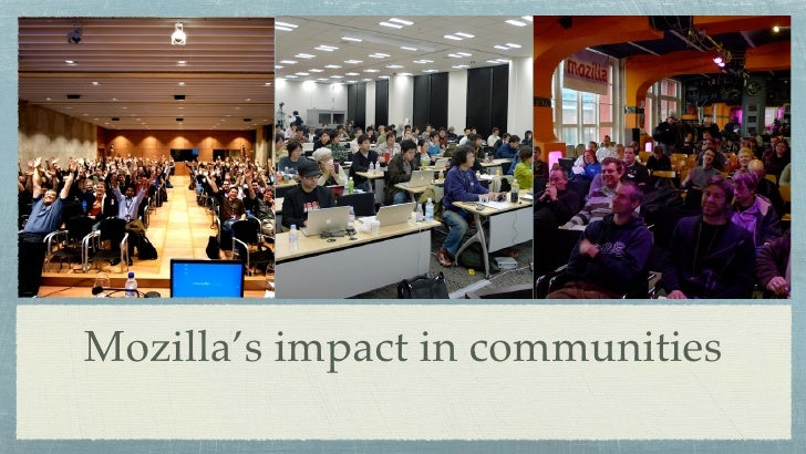 Mozilla's impact in communities