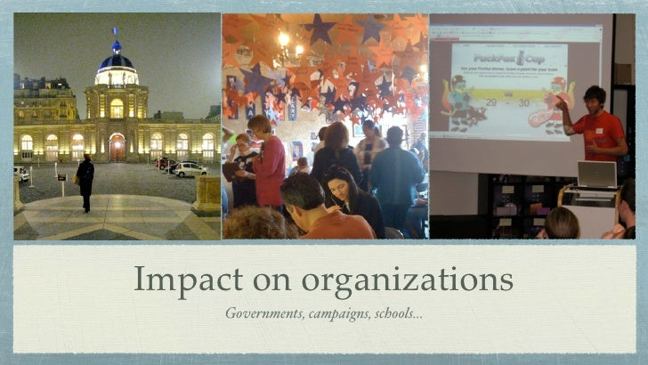 Impact on organizations      Governments, campaigns, schools...