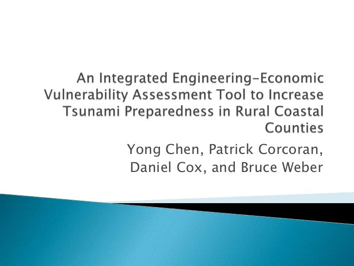 Yong Chen, Patrick Corcoran,Daniel Cox, and Bruce Weber