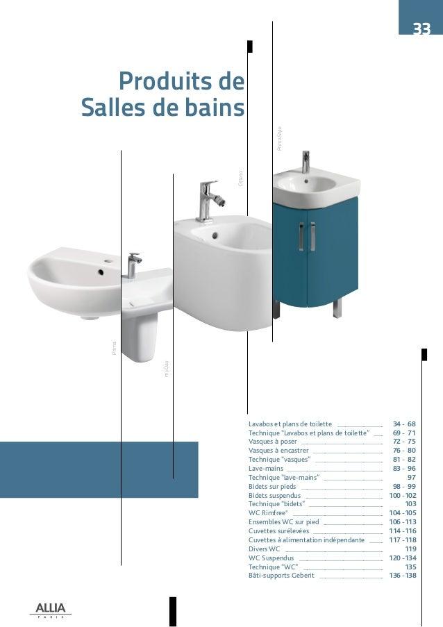 catalogue tarif allia 2016 salle de bains. Black Bedroom Furniture Sets. Home Design Ideas