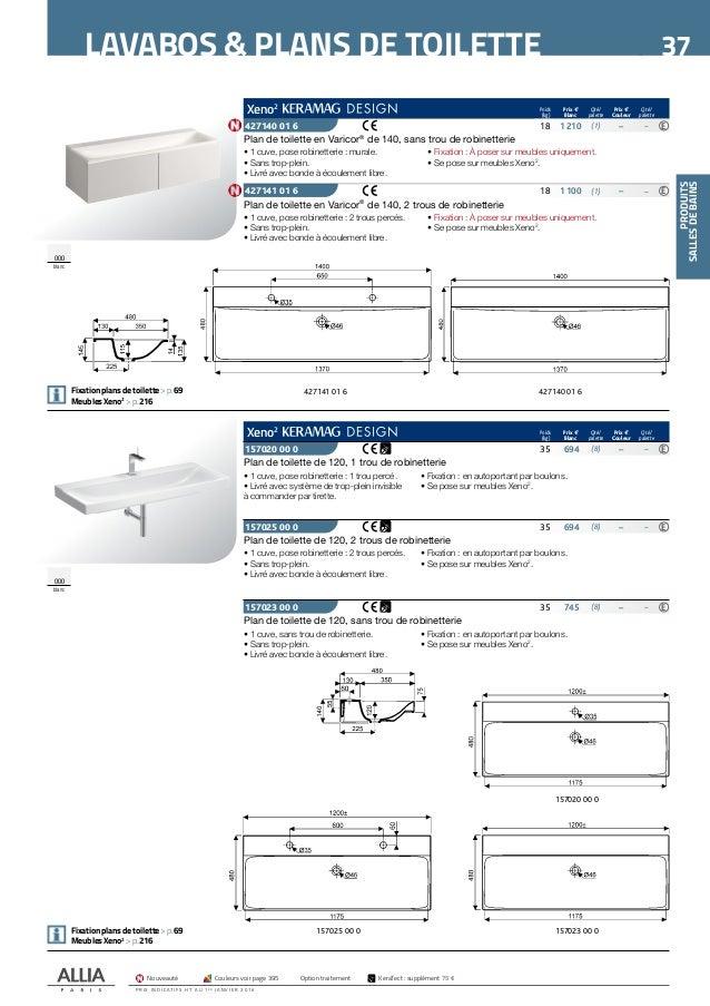 catalogue tarif allia 2016 salle de bains - Tarif Salle De Bain Complete 2