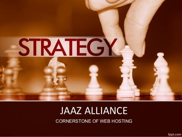 JAAZ ALLIANCE CORNERSTONE OF WEB HOSTING