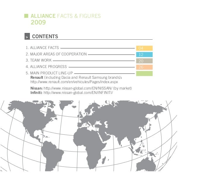 ALLIANCE FACTS & FIGURES    2009>    CONTENTS1. ALLIANCE FACTS                                                 042. MAJOR ...