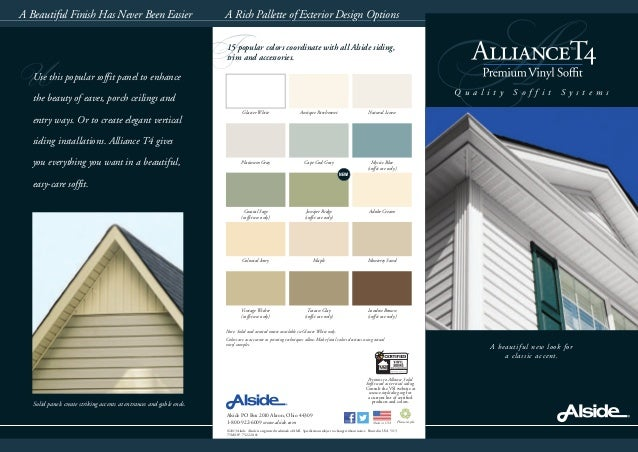 F A A beautiful new look for a classic accent. Q u a l i t y S o f f i t S y s t e m s A Rich Pallette of Exterior Design ...