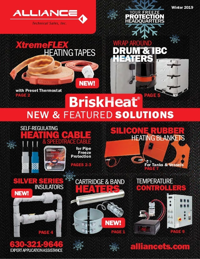 630-321-9646 alliancets.comEXPERTAPPLICATIONASSISTANCE XtremeFLEX HEATINGTAPES with Preset Thermostat PAGE 2 NEW! SILVER S...