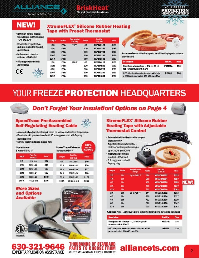 Electric Heating and Freeze Protection Solutions Slide 3
