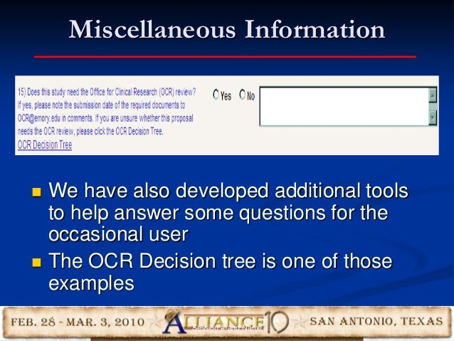 Miscellaneous Information 21  We have also developed additional tools to help answer some questions for the occasional us...
