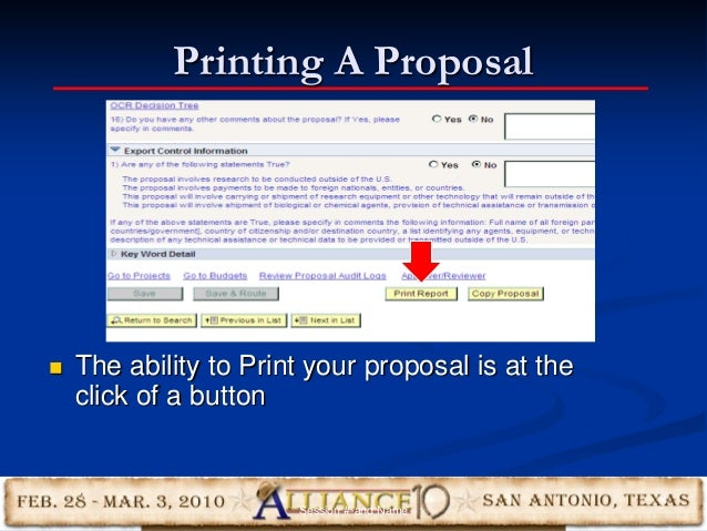 Printing A Proposal 23  The ability to Print your proposal is at the click of a button Session #-and Name
