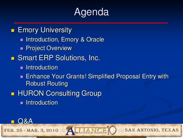 4 Agenda  Emory University  Introduction, Emory & Oracle  Project Overview  Smart ERP Solutions, Inc.  Introduction ...