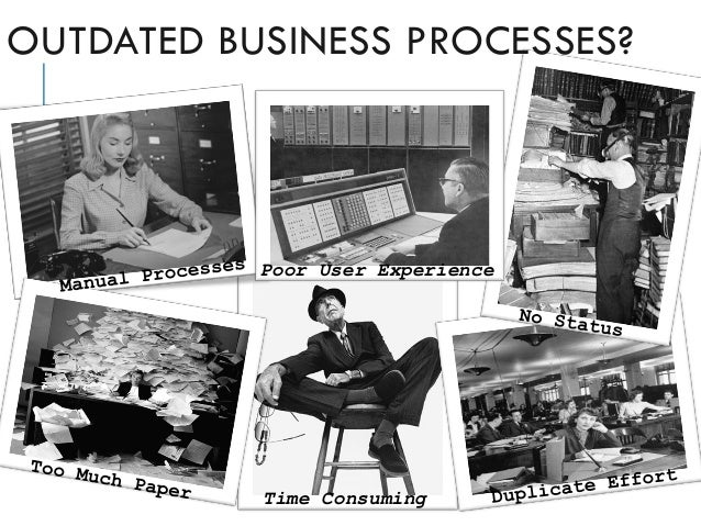 Time Consuming Poor User Experience OUTDATED BUSINESS PROCESSES?