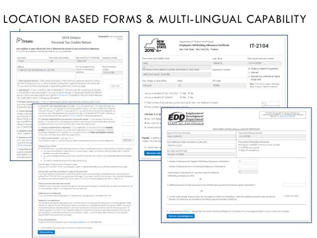 LOCATION BASED FORMS & MULTI-LINGUAL CAPABILITY