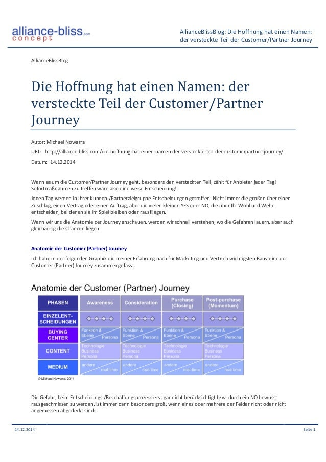 AllianceBlissBlog:  Die  Hoffnung  hat  einen  Namen:  der  versteckte  Teil  der  Customer/Partner  Journey  AllianceBlis...