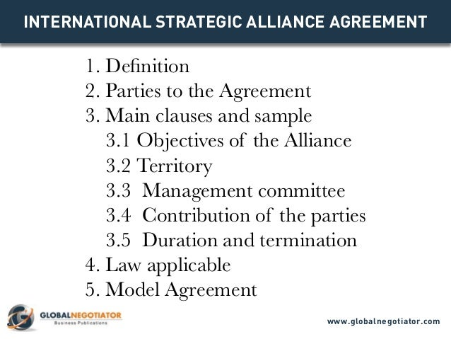 International strategic alliance agreement contract template and sa international strategic alliance agreement 1 definition 2 parties to the agreement 3 platinumwayz