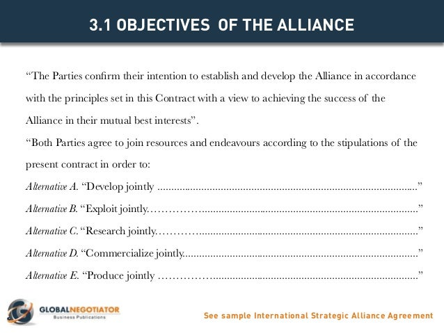 INTERNATIONAL STRATEGIC ALLIANCE AGREEMENT Contract Template and Sa – Mutual Agreement Contract Sample
