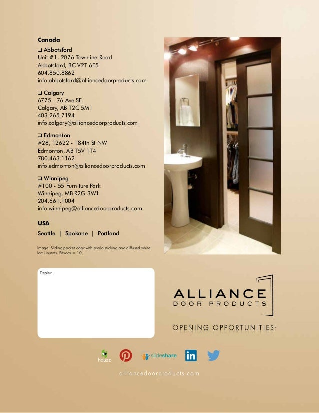 Alliance Door Products Edmonton Alliance Door Products