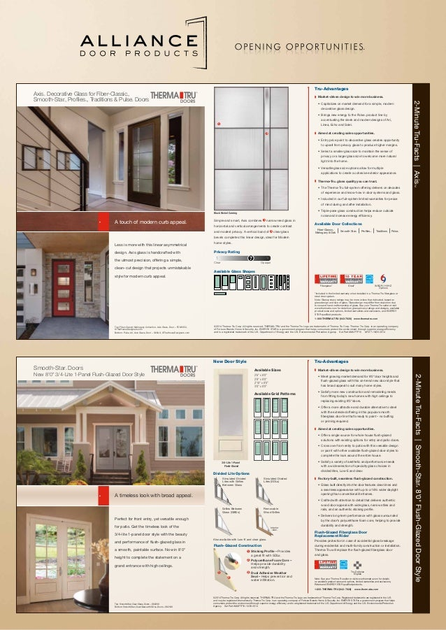sc 1 st  SlideShare & Alliance Door Products Therma-Tru AXIS poster web