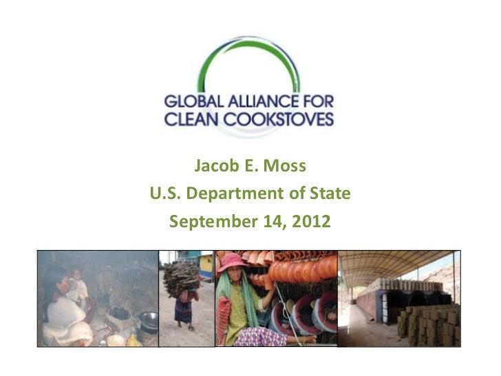 Jacob E. MossU.S. Department of State  September 14, 2012