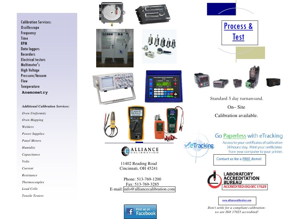 Calibration Services:Oscilloscope                                                                         Process &Frequen...