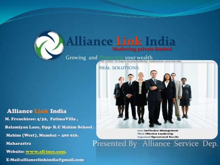 Alliance Link India                                              Marketing private limited                            Grow...