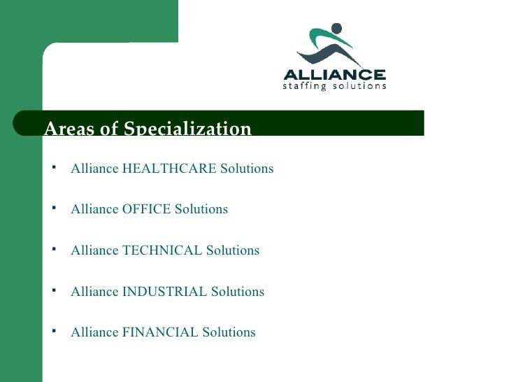 Alliance Staffing Solutions Power Point Presentation