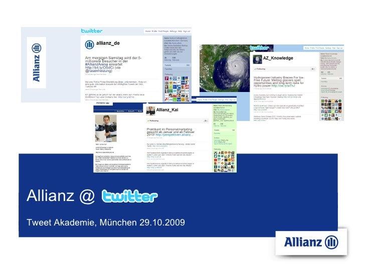 Allianz @ Tweet Akademie, München 29.10.2009