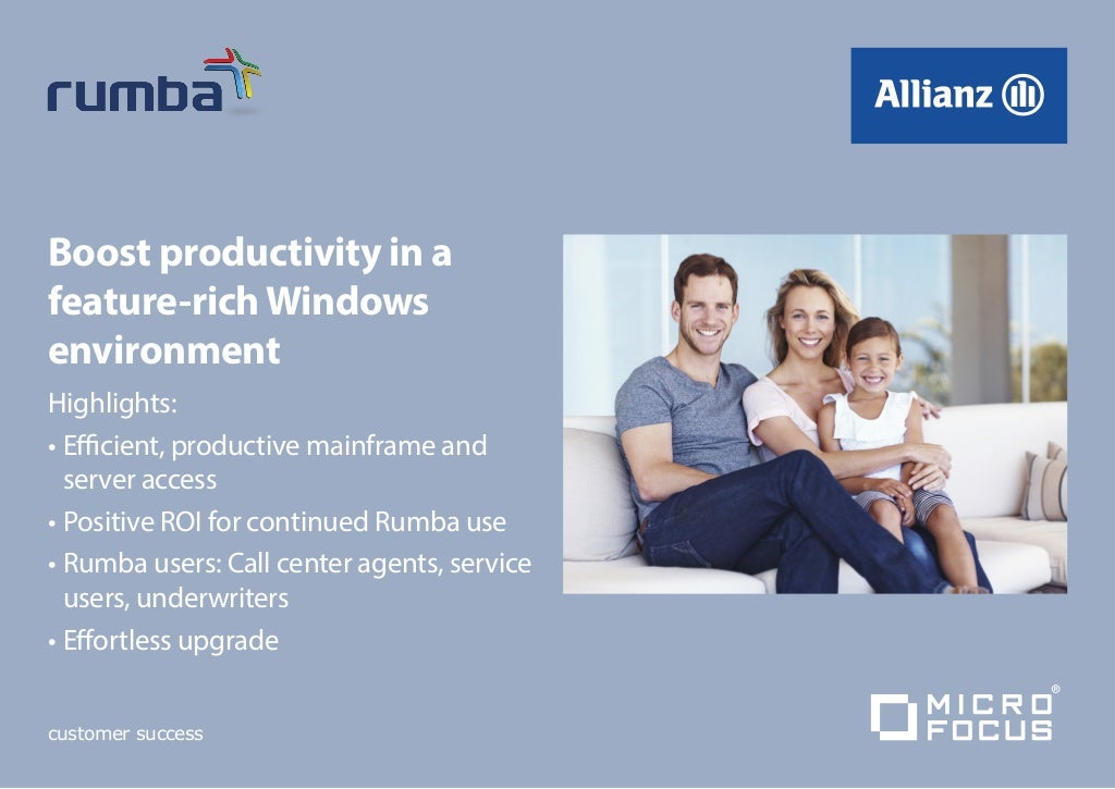 Allianz - Micro Focus Rumba Case Study