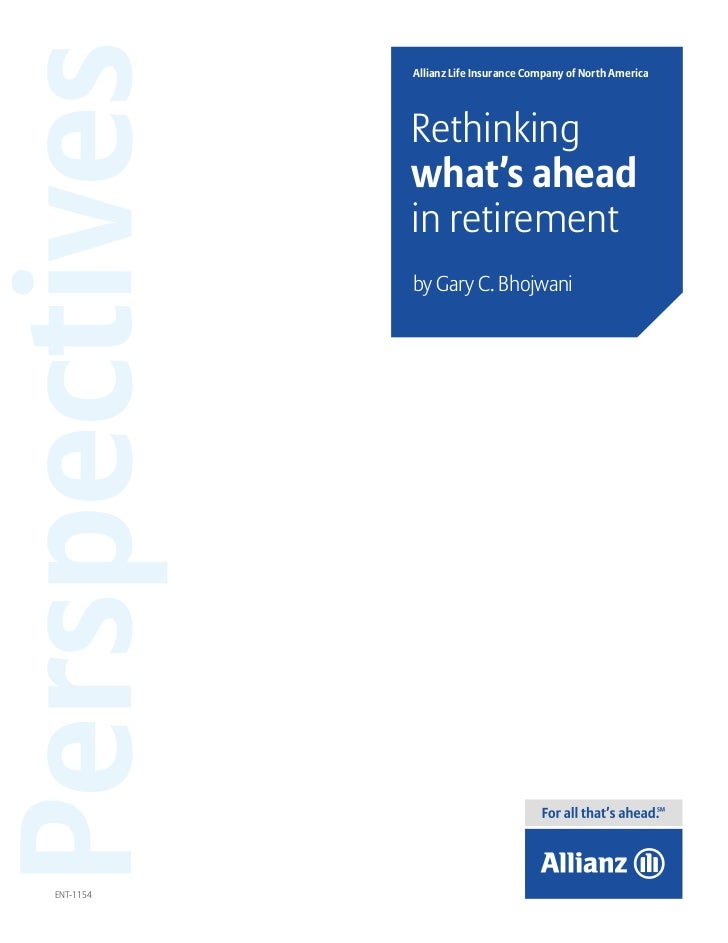 Perspectives   Allianz Life Insurance Company of North America               Rethinking               what's ahead        ...