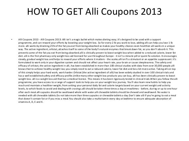 photograph about Alli Coupons Printable named Alli Coupon codes 2013 - Printable Alli Discount coupons 2013