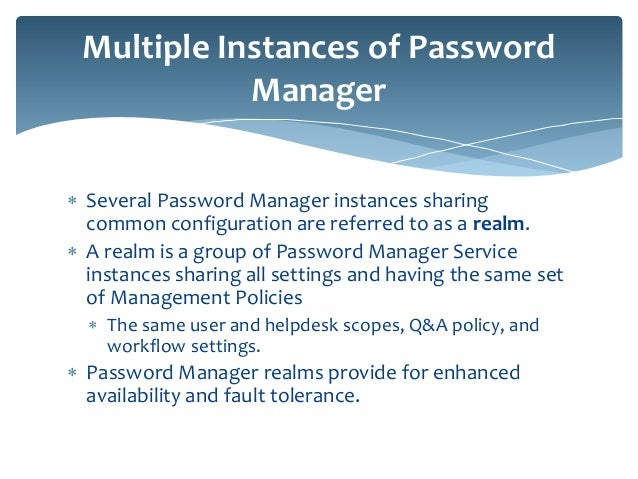 Dell Password Manager Introduction