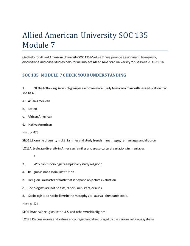 soc 135 Sociology 135, popular culture, sac state soc 135 exam #2 study guide by christine_m_duran includes 24 questions covering vocabulary, terms and more quizlet flashcards, activities and games help you improve your grades.