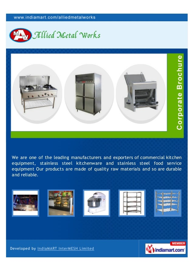 ... Kitchen Equipments. We Are One Of The Leading Manufacturers And  Exporters Of Commercial Kitchenequipment, Stainless Steel Kitchenware ...