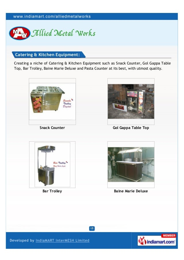 Tikki Counter Plate Collection Trolley Catering Equipments Snacks Trolly;  15. Catering U0026 Kitchen ...
