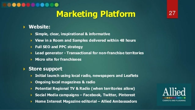 Marketing Platform  Website:  Simple, clear, inspirational & informative  View in a Room and Samples delivered within 4...