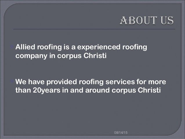 About Us  Roofing Works  Services  Free Consultation  Contact Us; 3.   Allied ...