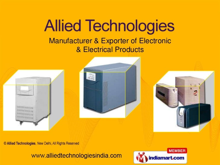 Manufacturer & Exporter of Electronic <br />& Electrical Products<br />