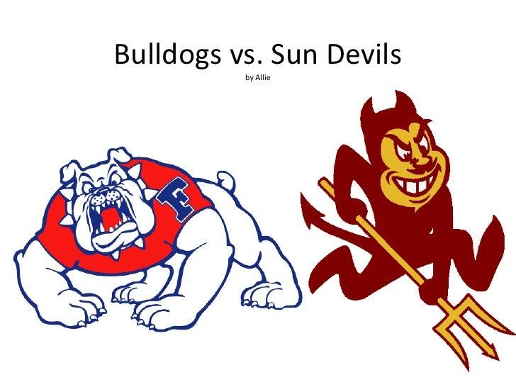 Bulldogs vs. Sun Devils          by Allie