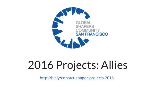 2016 Projects: Allies http://bit.ly/contact-shaper-projects-2016
