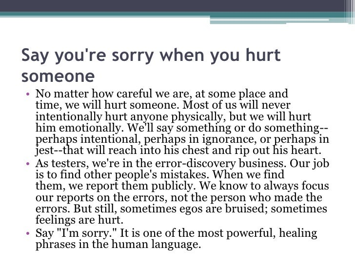 everyday power blog - Inspirational How To Say Sorry To