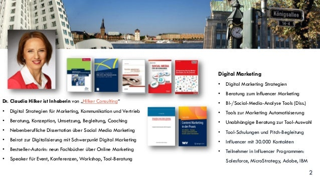 Vortrag: Influencer Marketing Tools von Claudia Hilker Slide 2